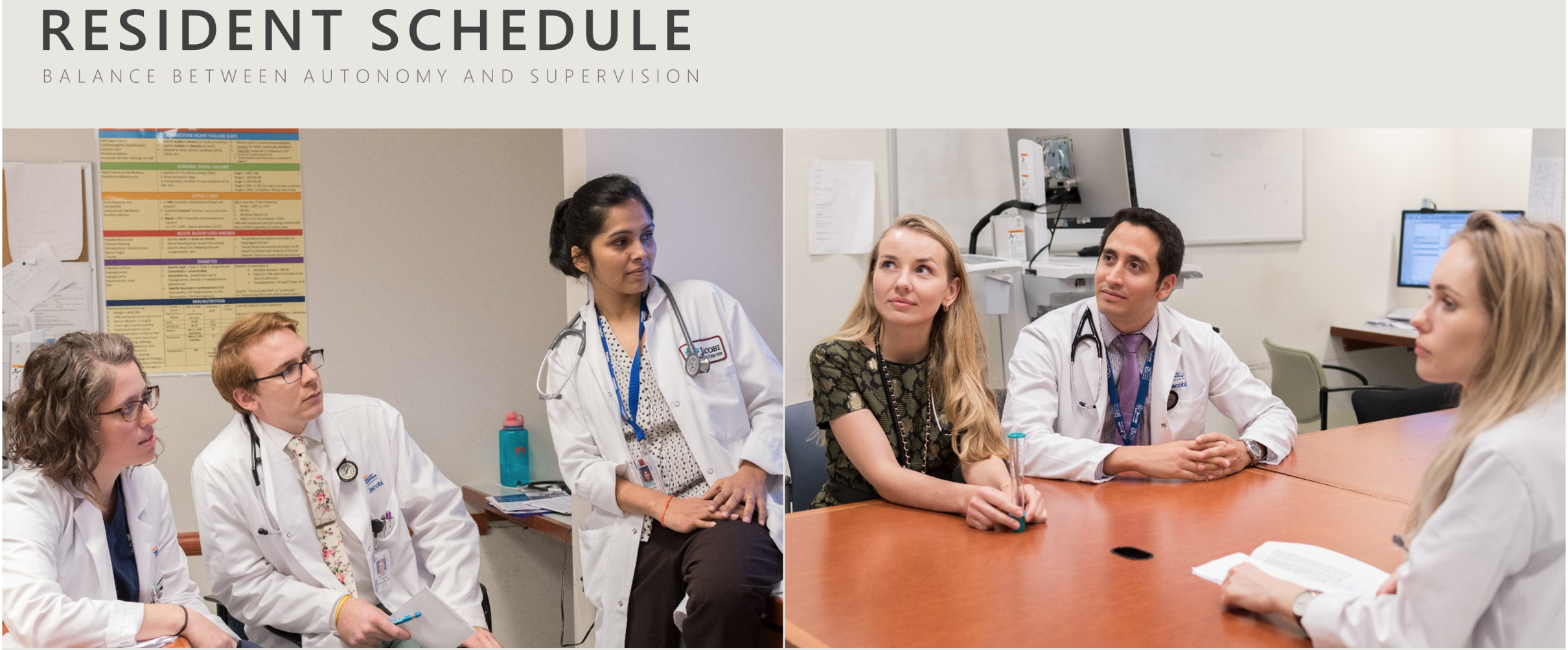 Resident Schedule – Jacobi Medical Center – Department of